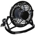 USB Mini Desktop Black Metal Cooling Fan with Adjustable Direction