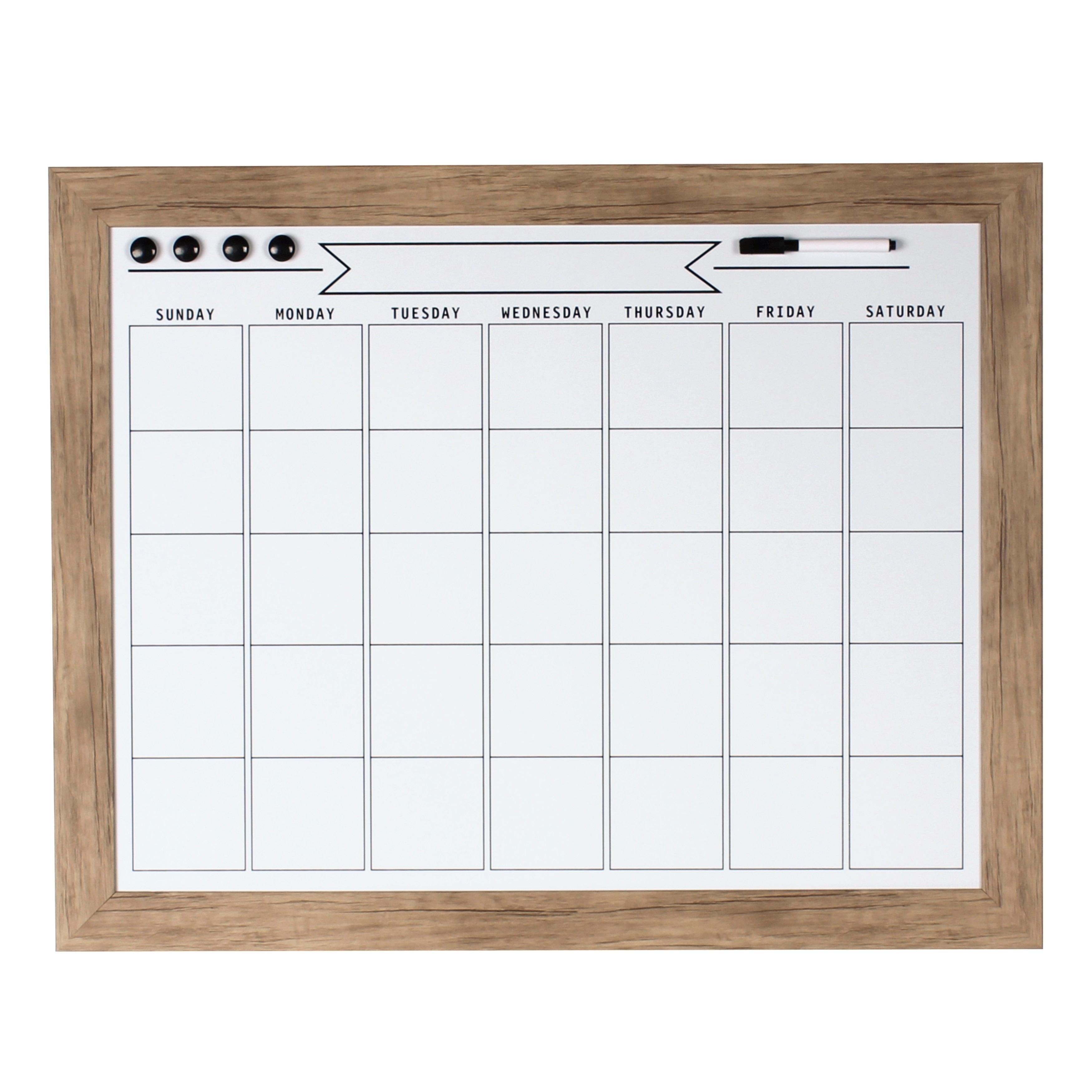 Shop DesignOvation Beatrice Framed Magnetic Dry Erase Monthly ...