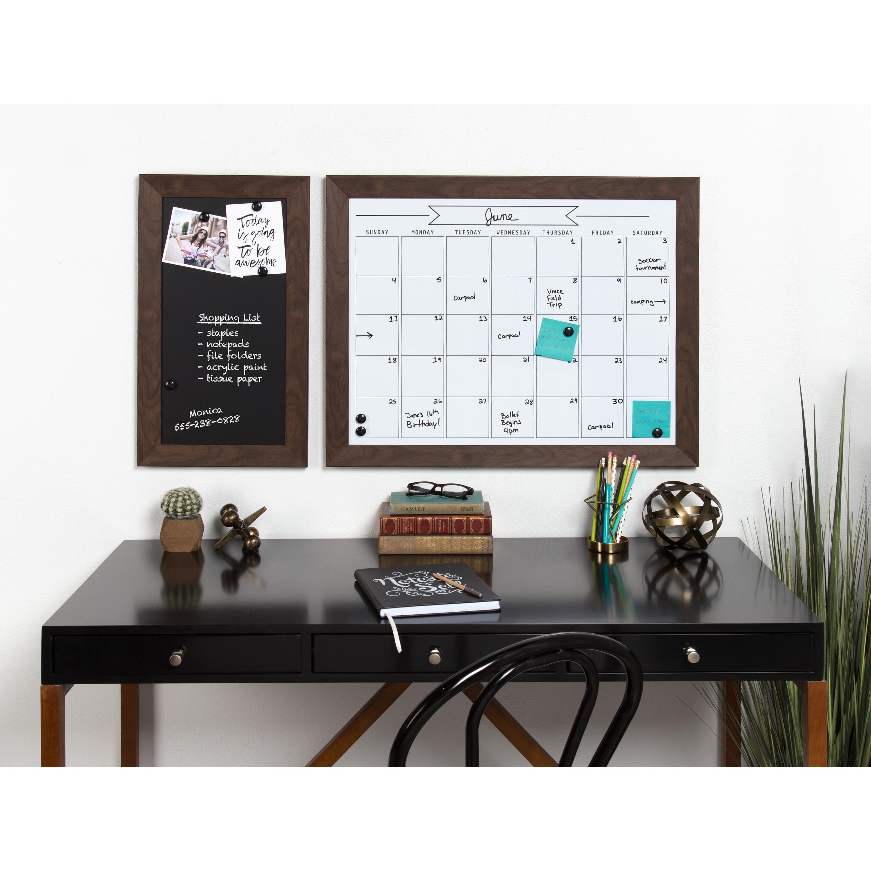 Shop DesignOvation Beatrice Framed Magnetic Dry Erase Monthly