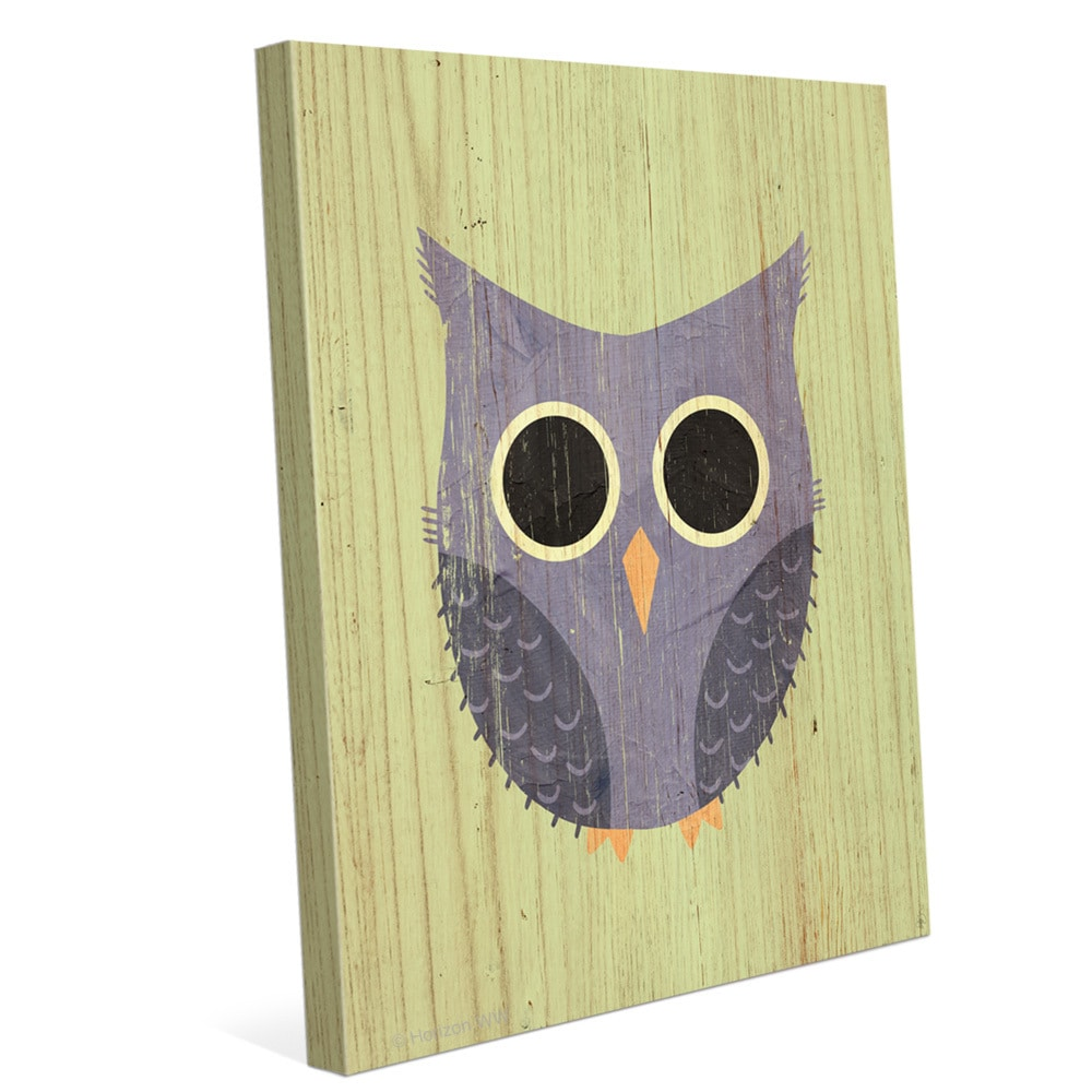 Shop \'Little Owl Summer\' Canvas Wall Graphic Art - On Sale - Free ...