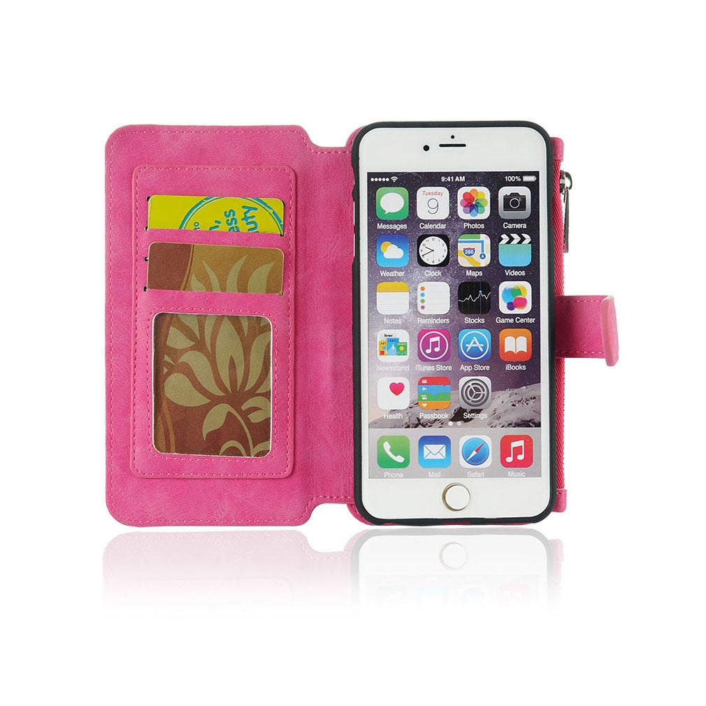 the latest ca363 563c6 Luxury Coach Series Apple iPhone 6/6s/Plus Flip Wallet Case