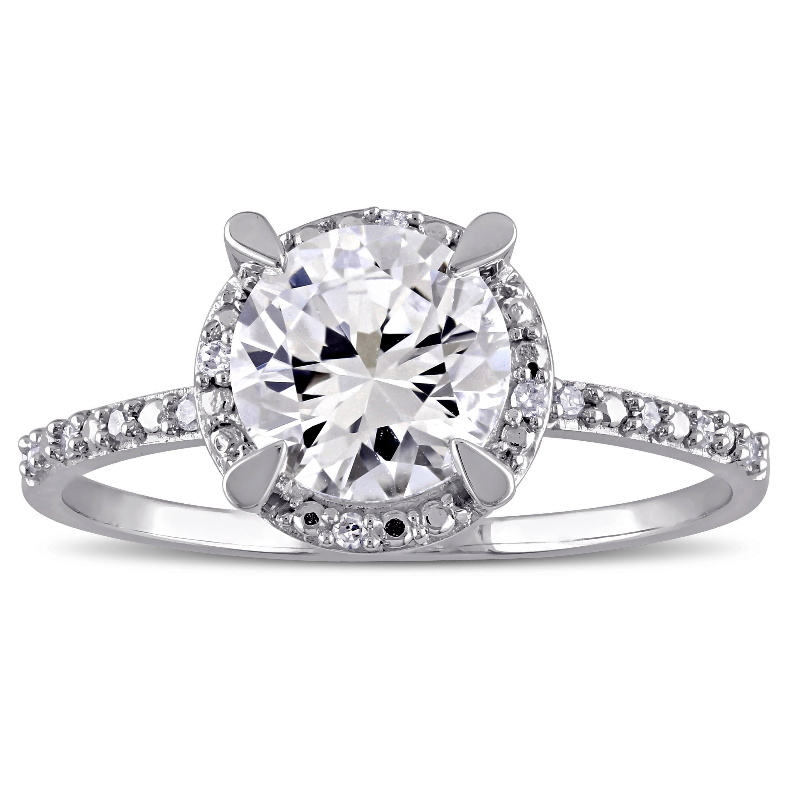picture ring white sapphire of created silver cushion cluster sterling whitesapphire lab