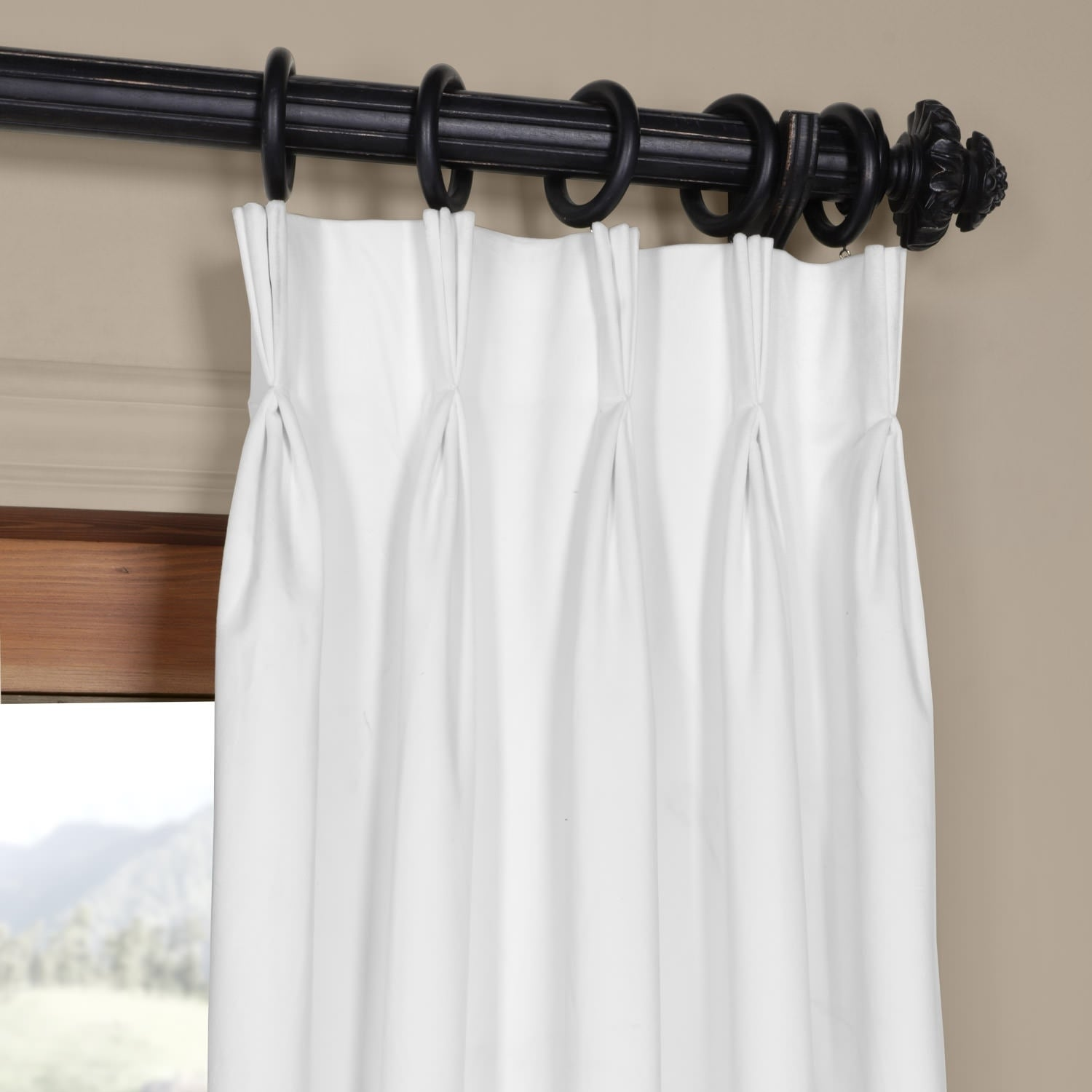 Exclusive Fabrics Signature Pinch Pleated Blackout Solid Velvet Curtain Panel On Free Shipping Today 12269991