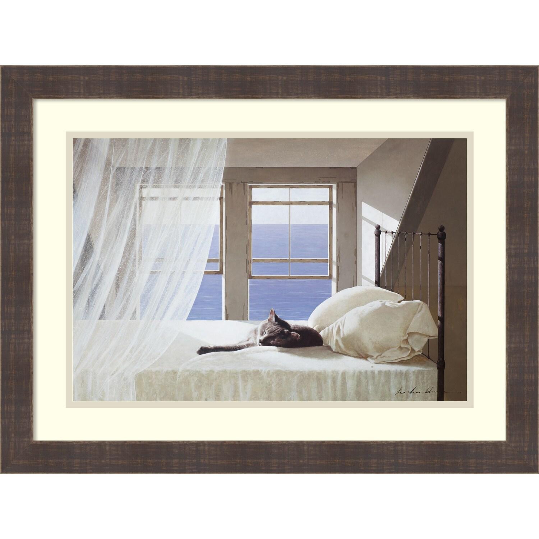 Shop Framed Art Print U0027Nap Timeu0027 By Zhen Huan Lu 25 X 19 Inch   Free  Shipping Today   Overstock.com   12270500