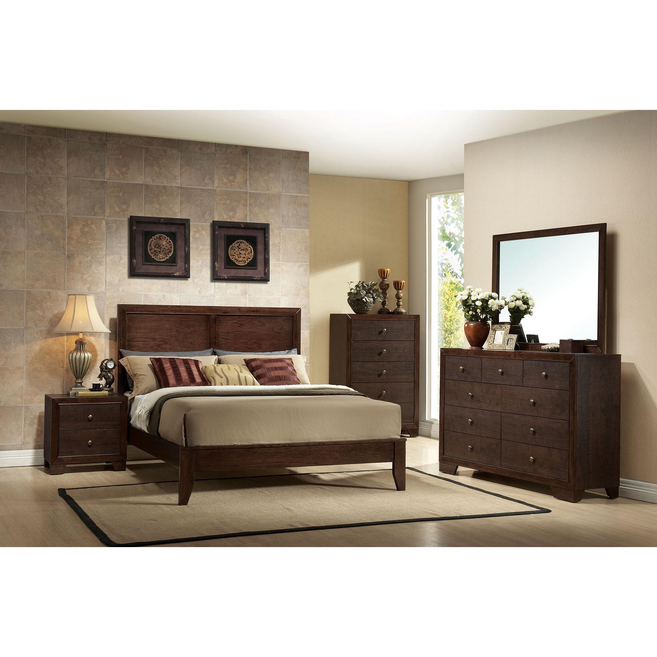 Shop madison espresso 4 piece bedroom set free shipping today overstock com 12271680