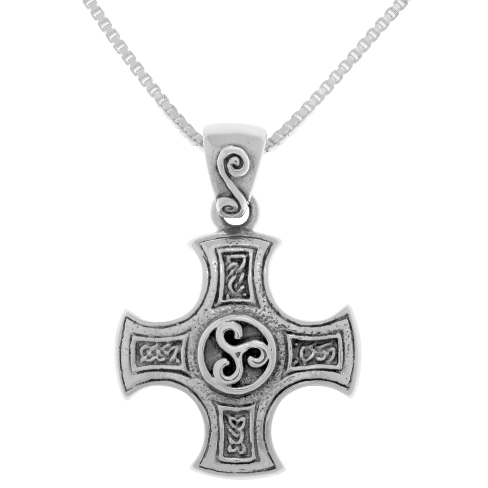 silver pagan celtic triskele jewellery spiral pendant goddess sterling pin necklace choker triple