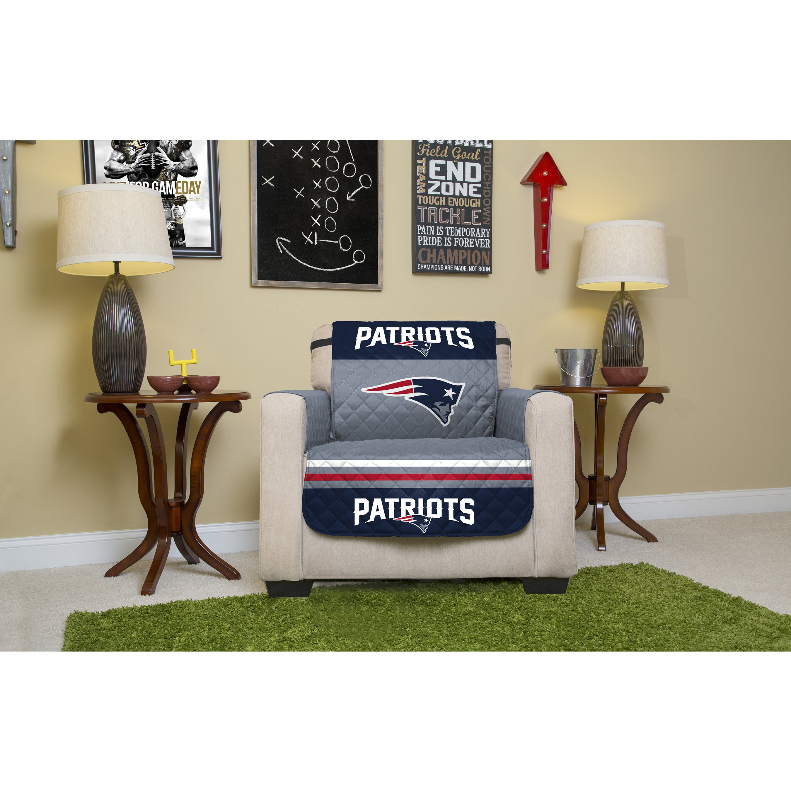 Official Nfl Licensed New England Patriots Chair Protector Free Shipping On Orders Over 45 12280438