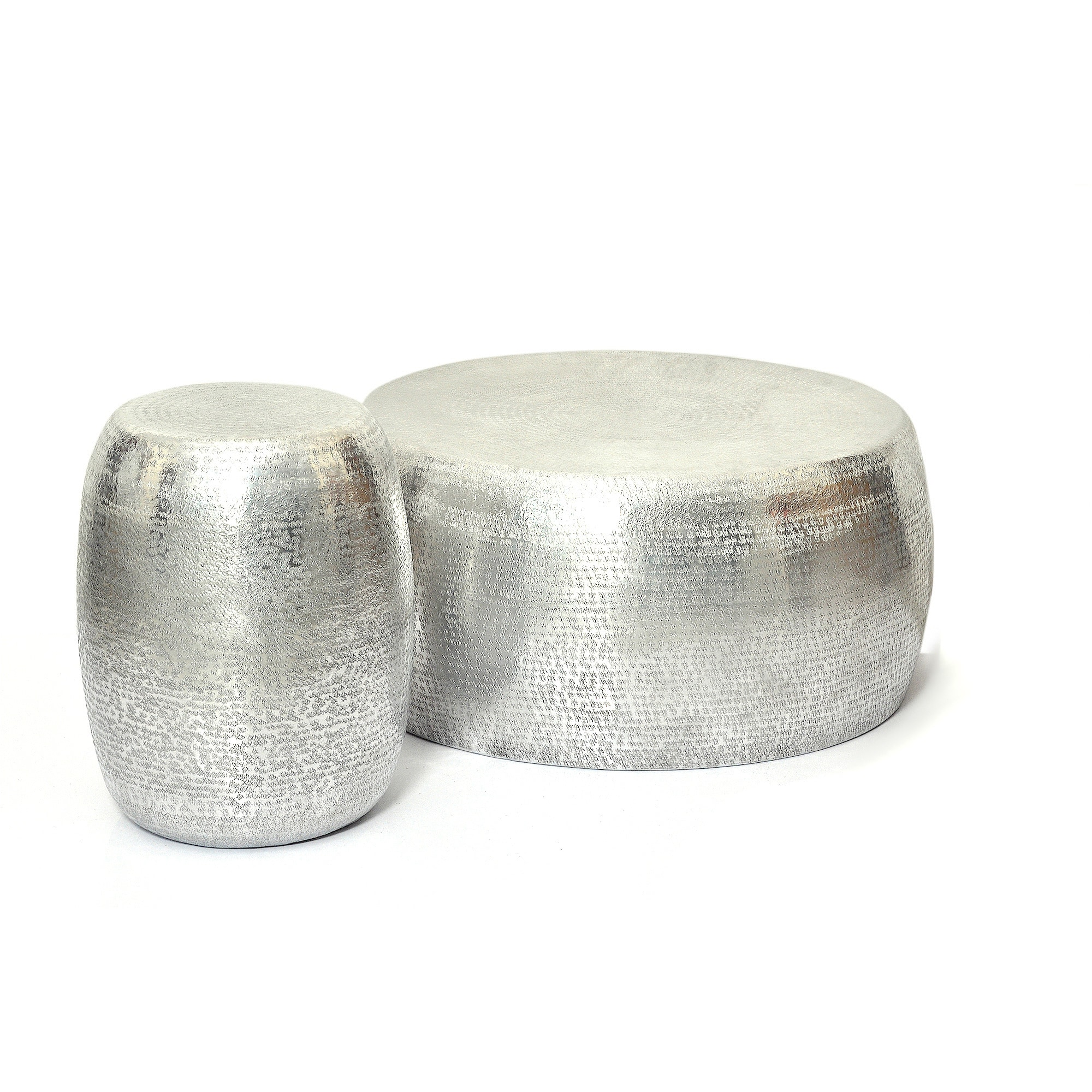Marrakech Hammered Metal Round Coffee Table Free Shipping Today