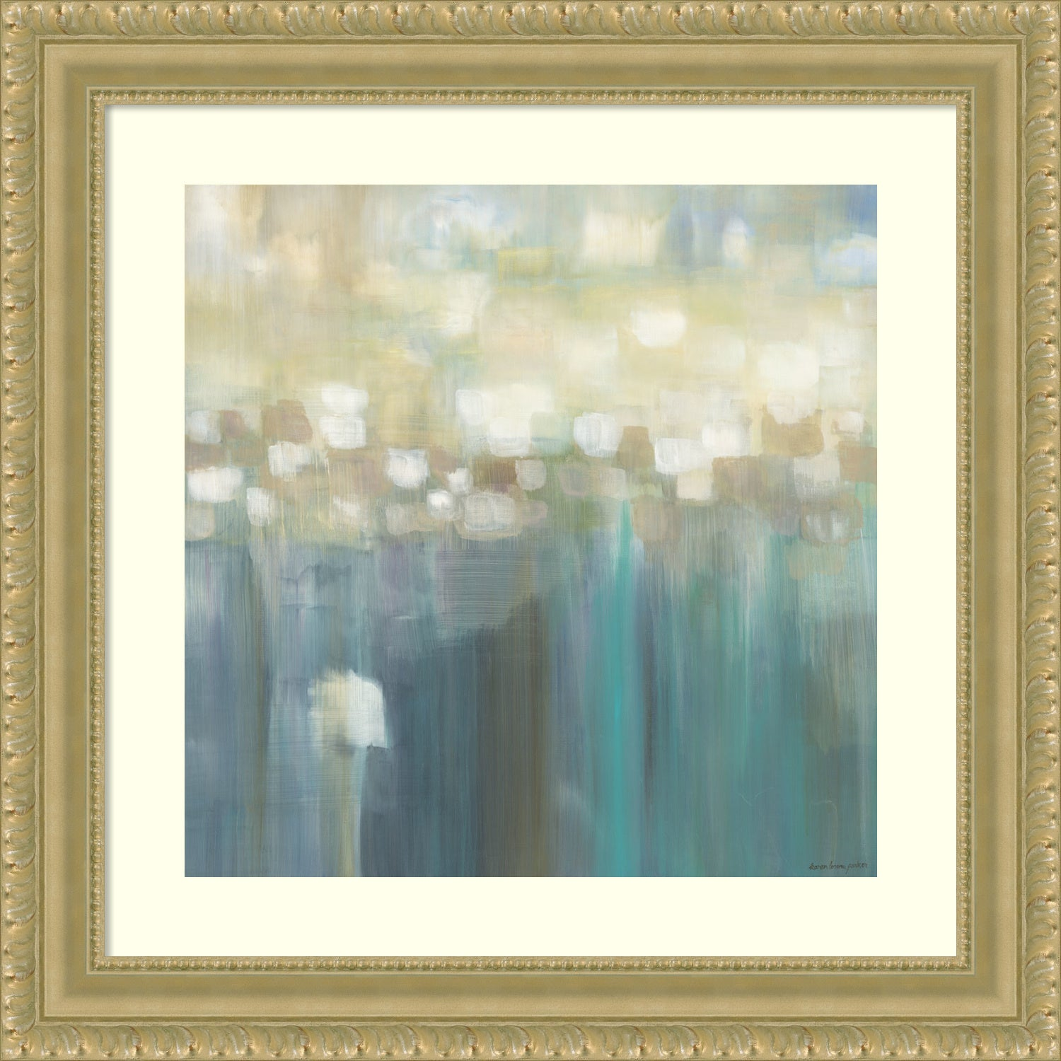 Shop Framed Art Print \'Aqua Light\' 18 x 18-inch - Free Shipping ...