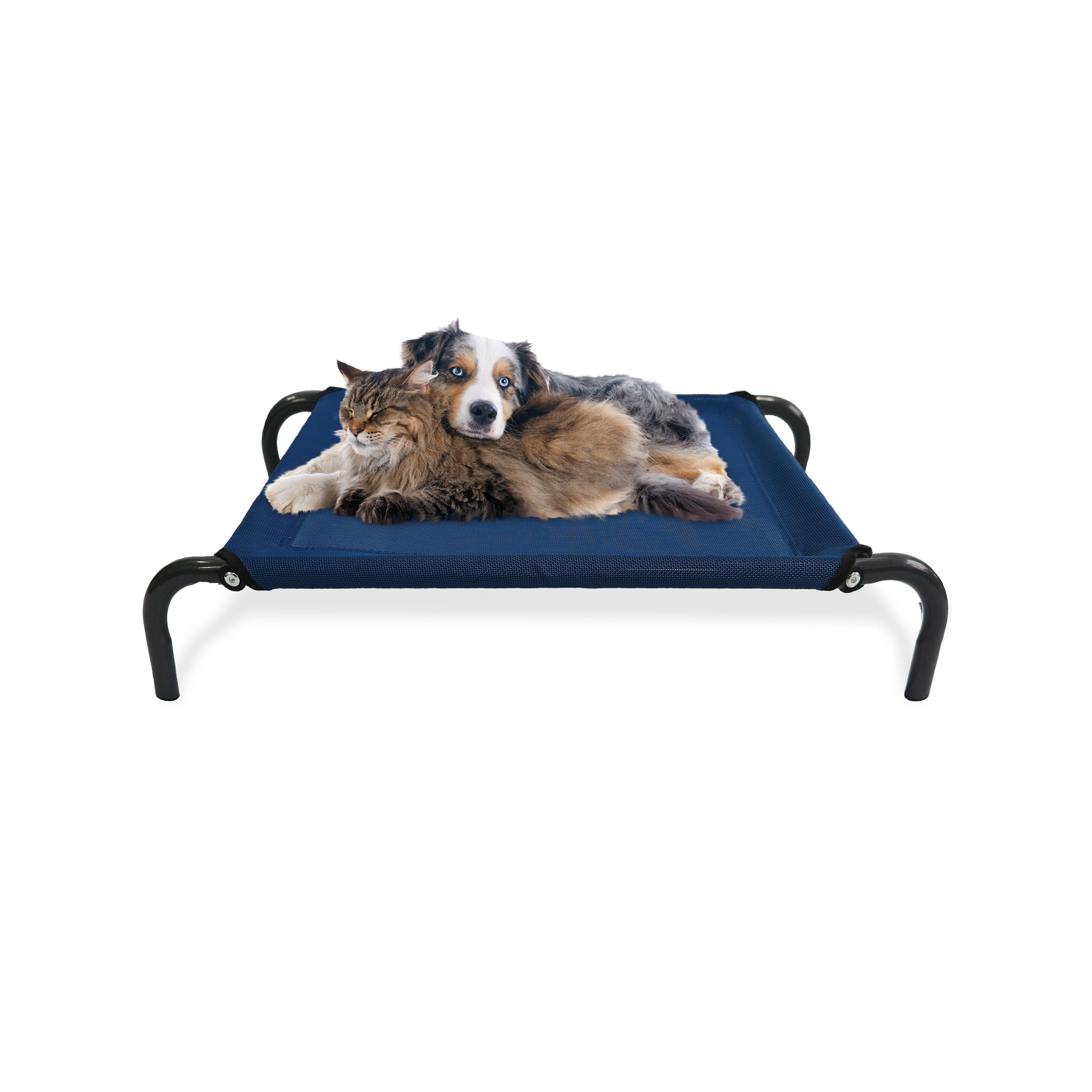 furhaven steel frame elevated hammock cot style raised pet bed   free shipping on orders over  45   overstock     19134572 furhaven steel frame elevated hammock cot style raised pet bed      rh   overstock
