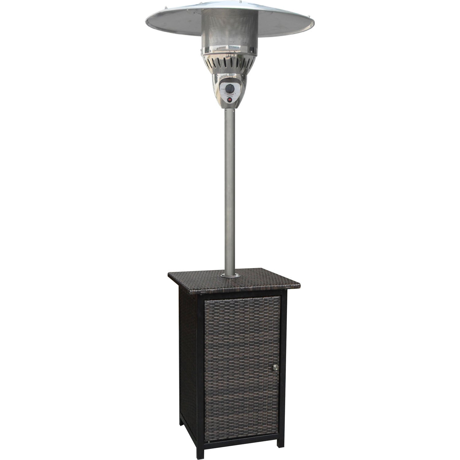 Hanover Brown Stainless SteelWicker Foot BTU Square - 7 foot stainless steel table