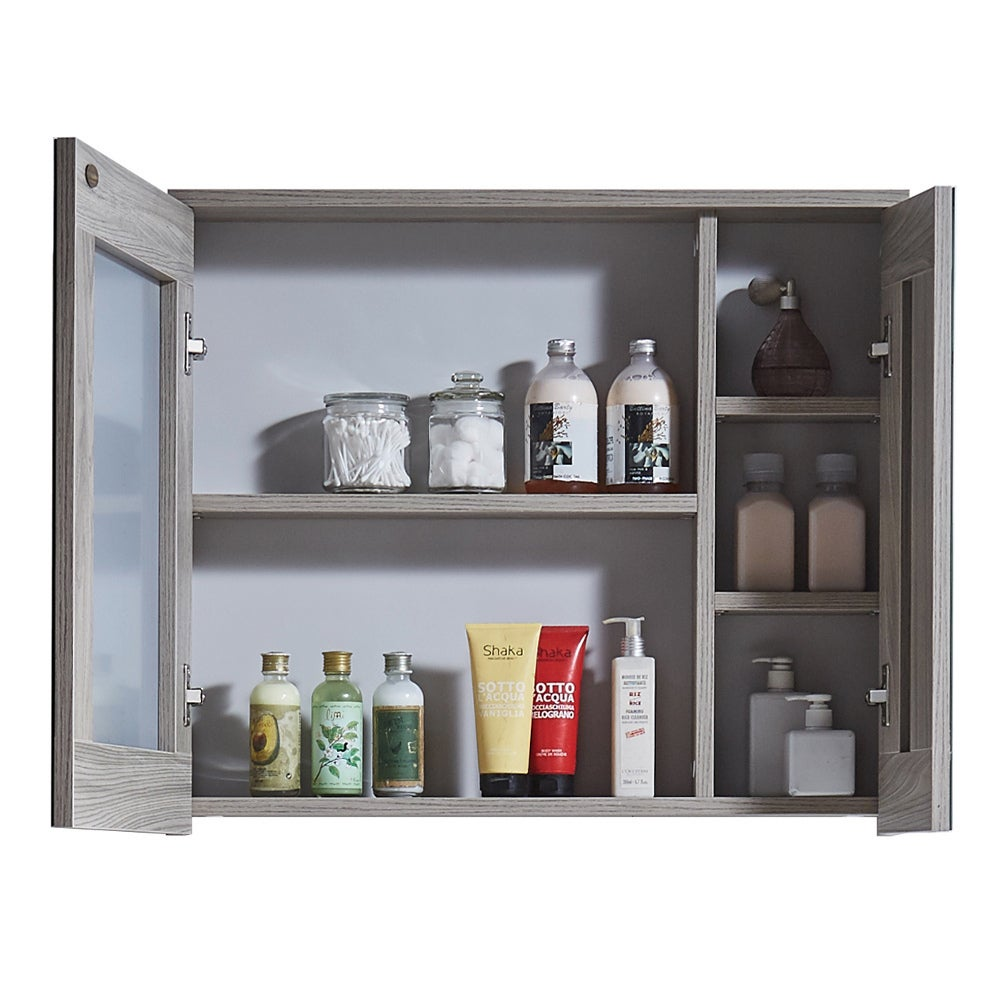 Shop 29 Inch Bathroom Vanity With Ceramic Sink And Matching Medicine Cabinet    Free Shipping Today   Overstock.com   12301340