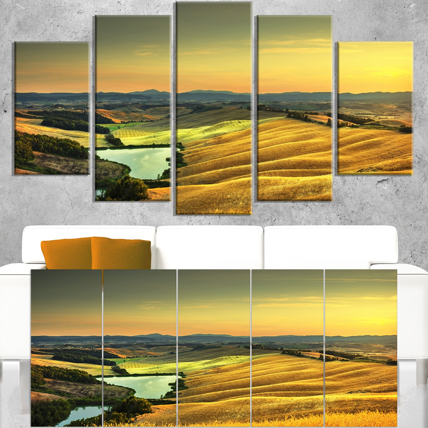 Shop Rural Landscape Italy Panorama - Oversized Landscape Wall Art ...