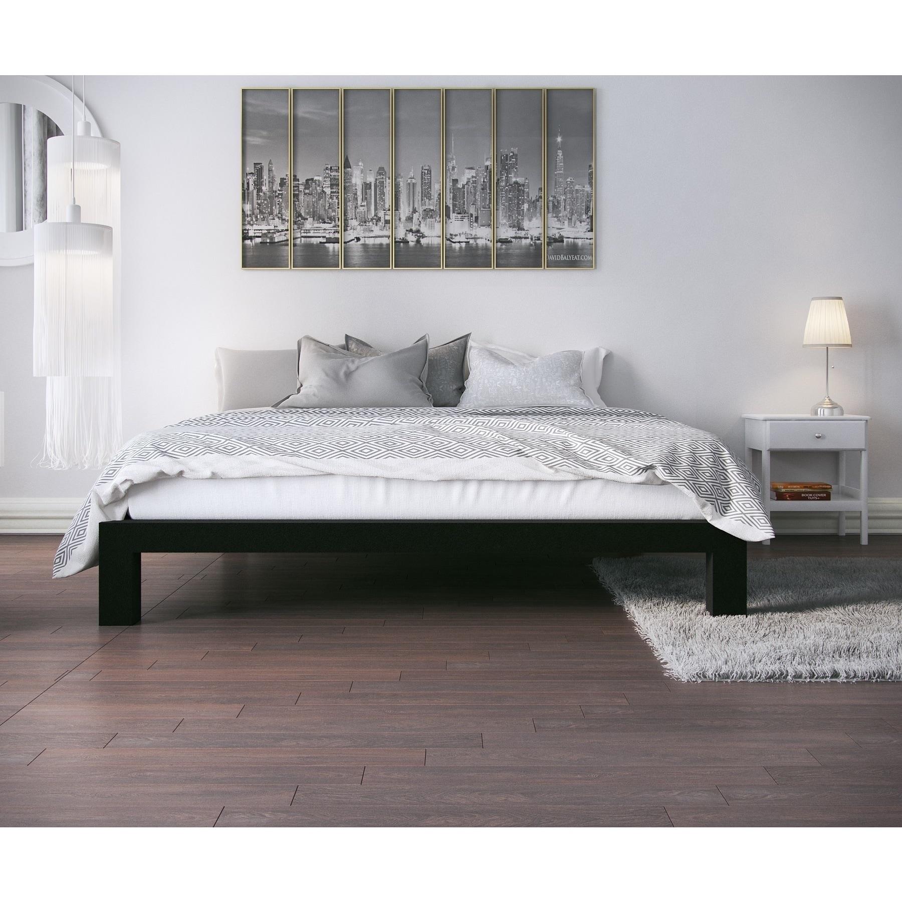 Shop Vesta Black Metal Slatted Platform Bed - On Sale - Free ...