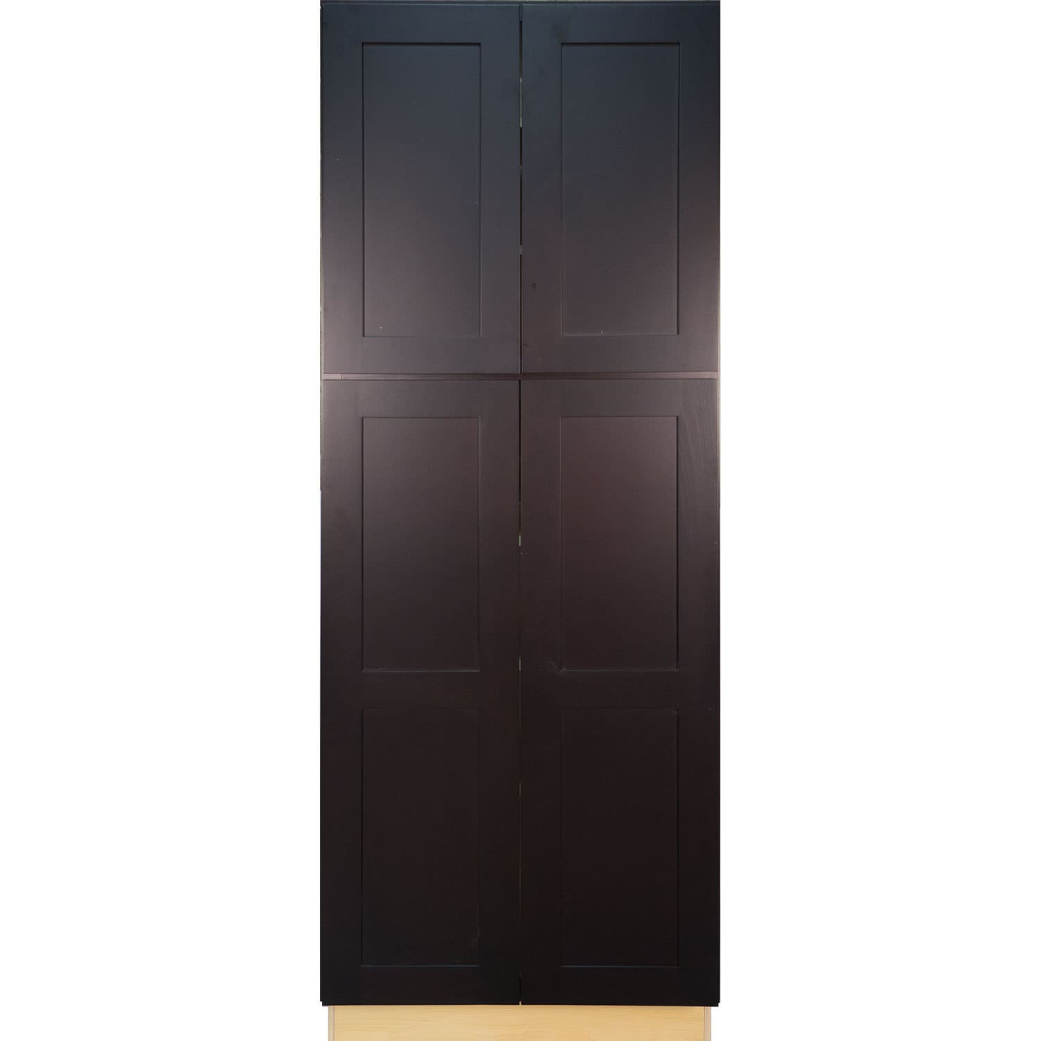 Everyday Cabinets Dark Espresso 24 Inch Shaker Pantry Utility Kitchen Cabinet Free Shipping Today 12303540