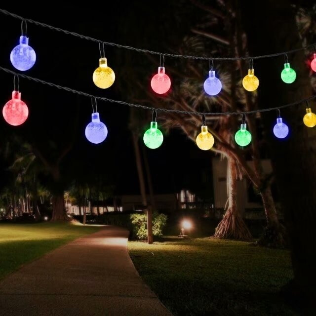 Outdoor String Lights Solar Decorative Light With 30 Led Crystal Ball For Garden Patio Deck Decoration Free Shipping On Orders Over 45