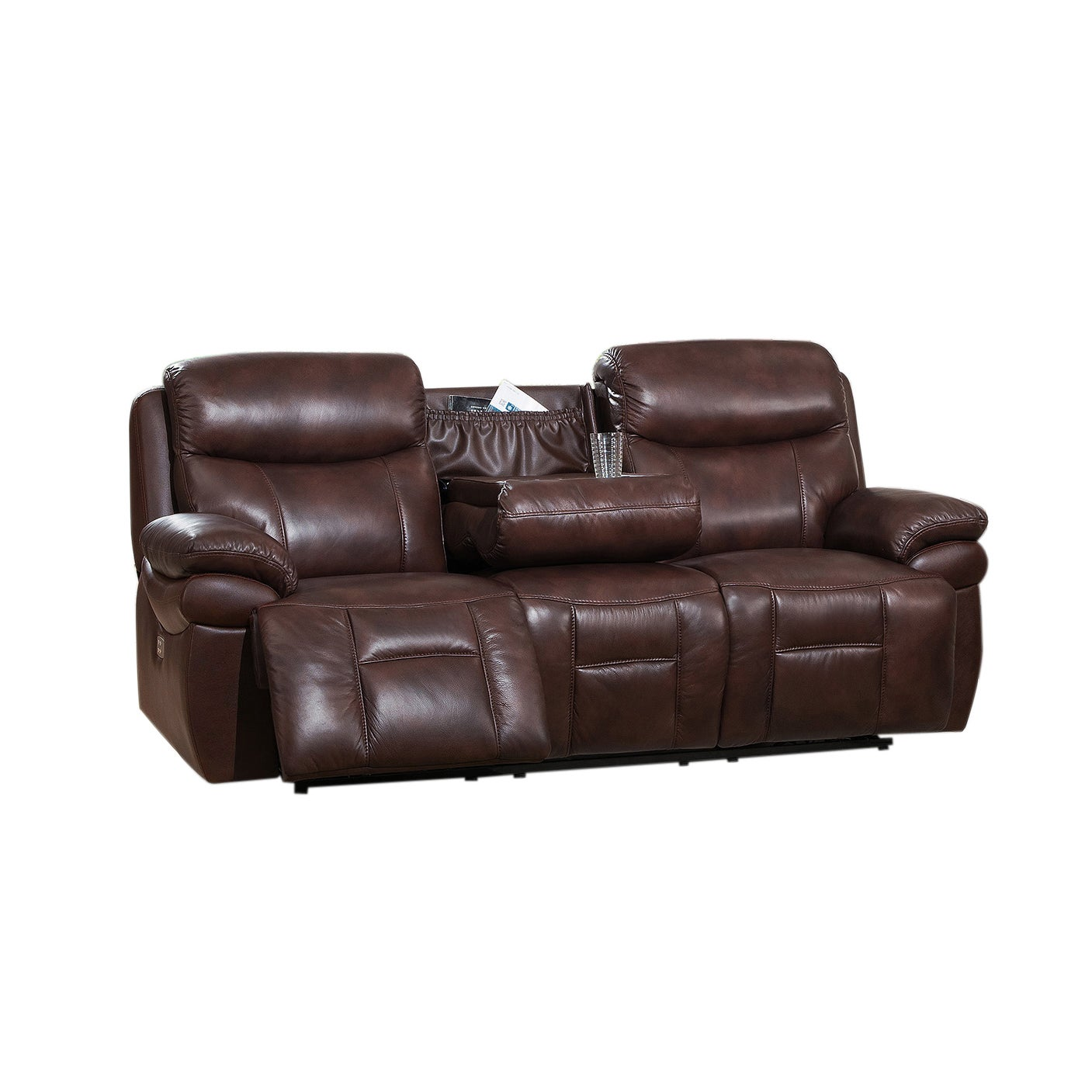 Sanford Leather Power Reclining Sofa Loveseat and Chair Set with