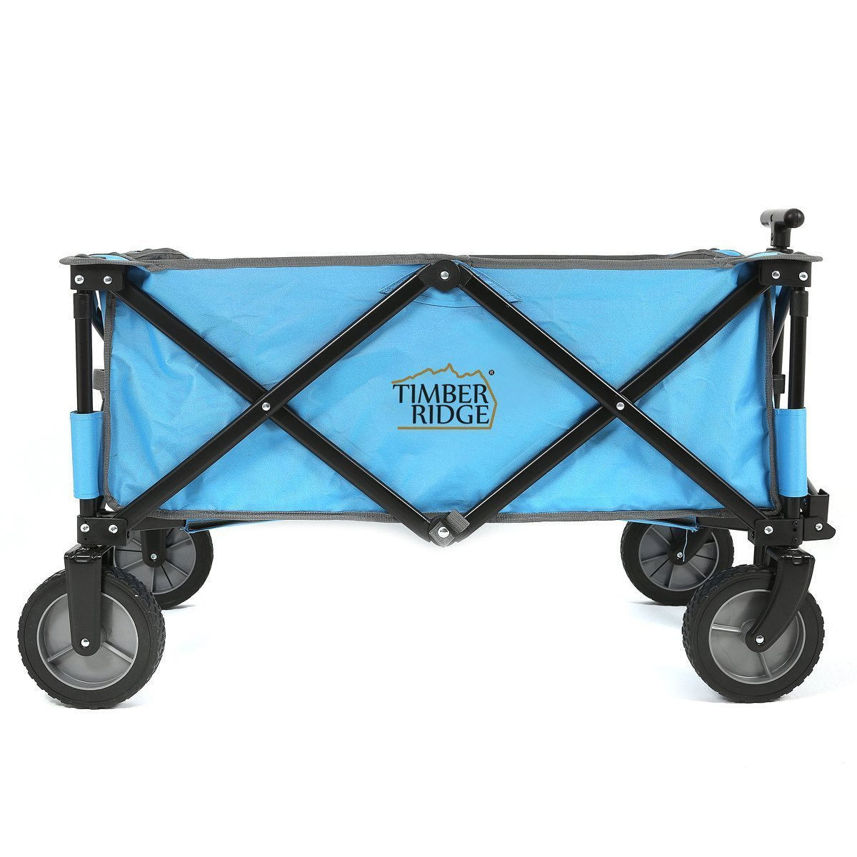 Shop TimberRidge Blue Black All-terrain Collapsible Folding Camping Wagon Garden  Cart - Free Shipping Today - Overstock - 12308080 b3a285027f