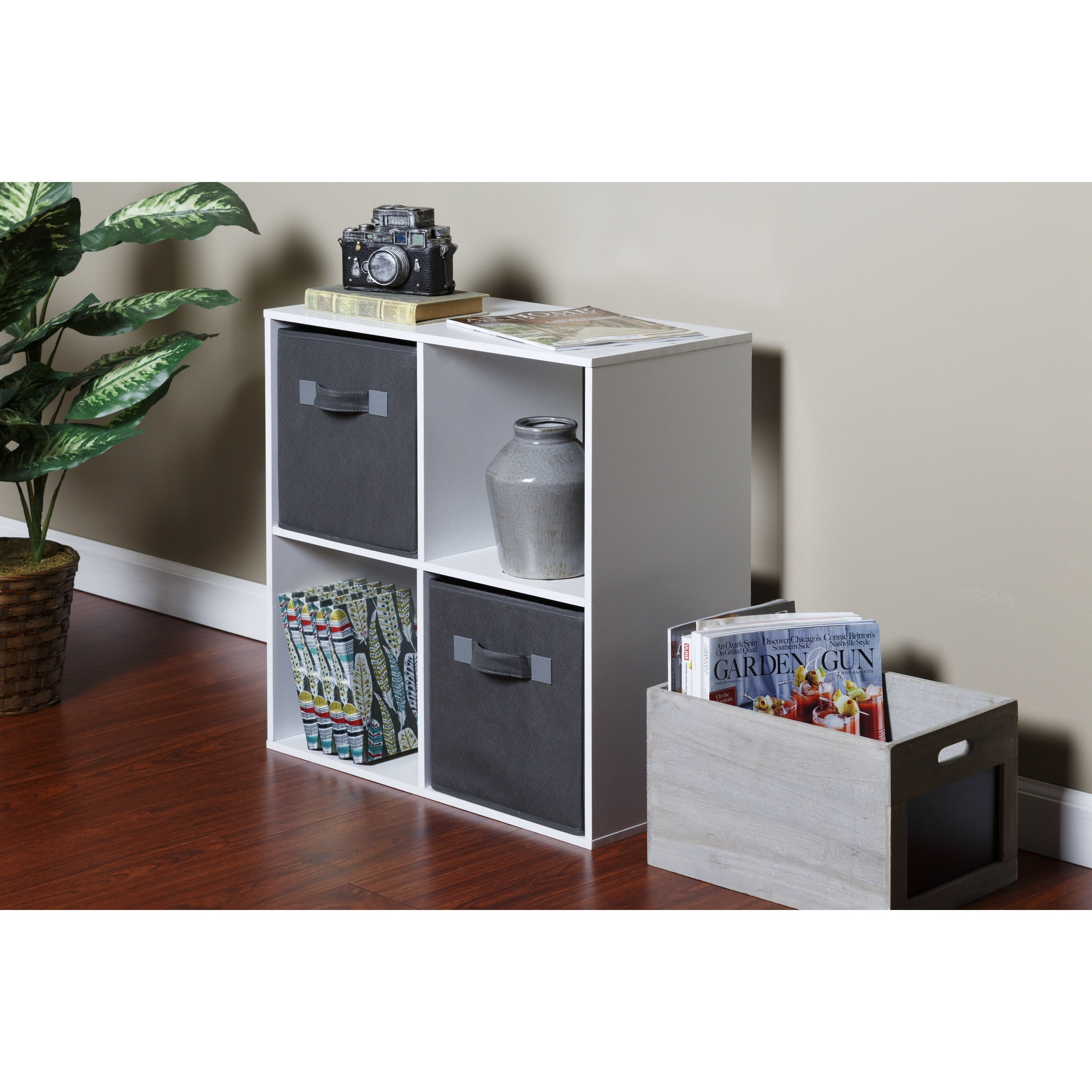 Shop OneSpace Foldable Cloth Storage Cube Set (Pack Of 4)   Free Shipping  On Orders Over $45   Overstock.com   12308142