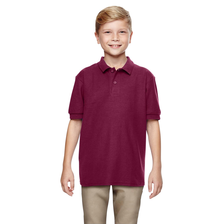 Shop Dryblend Boys Maroon Double Pique Polo Shirt On Sale Free