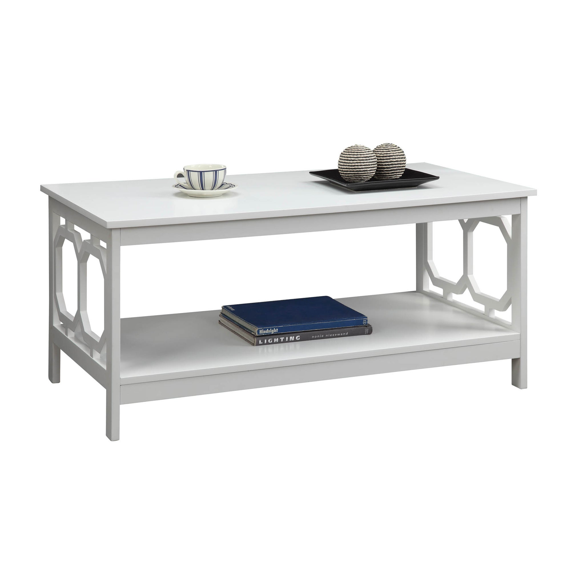 Convenience Concepts Omega Coffee Table in Black or White Free