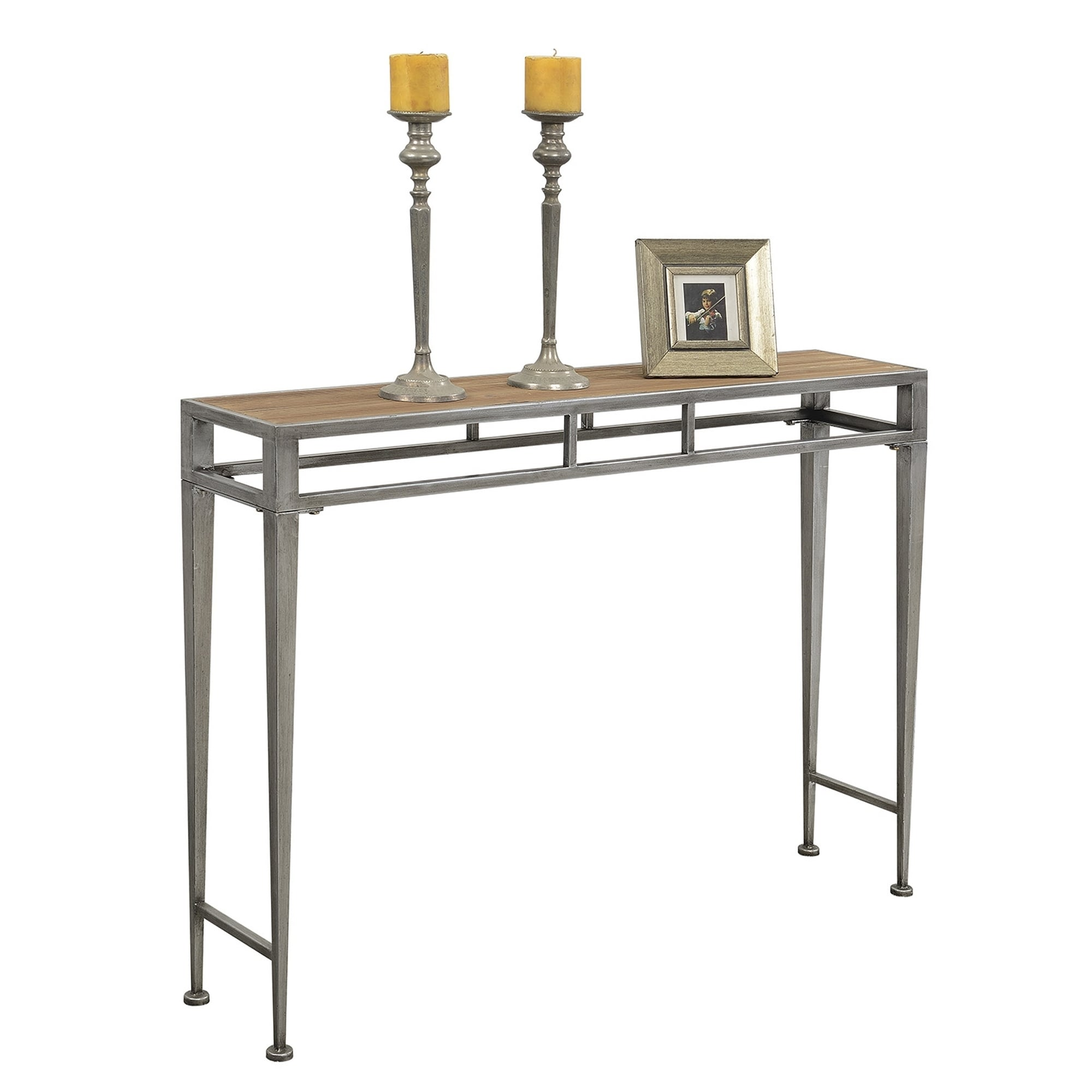 Gold Coast Julia Hall Iron and Glass Console Table - Free Shipping Today -  Overstock.com - 19143603