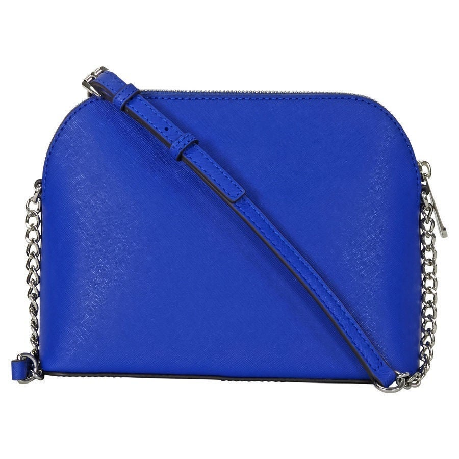4850d8406a7b Shop Michael Kors 'Cindy' Large Electric-blue Dome Crossbody Handbag ...