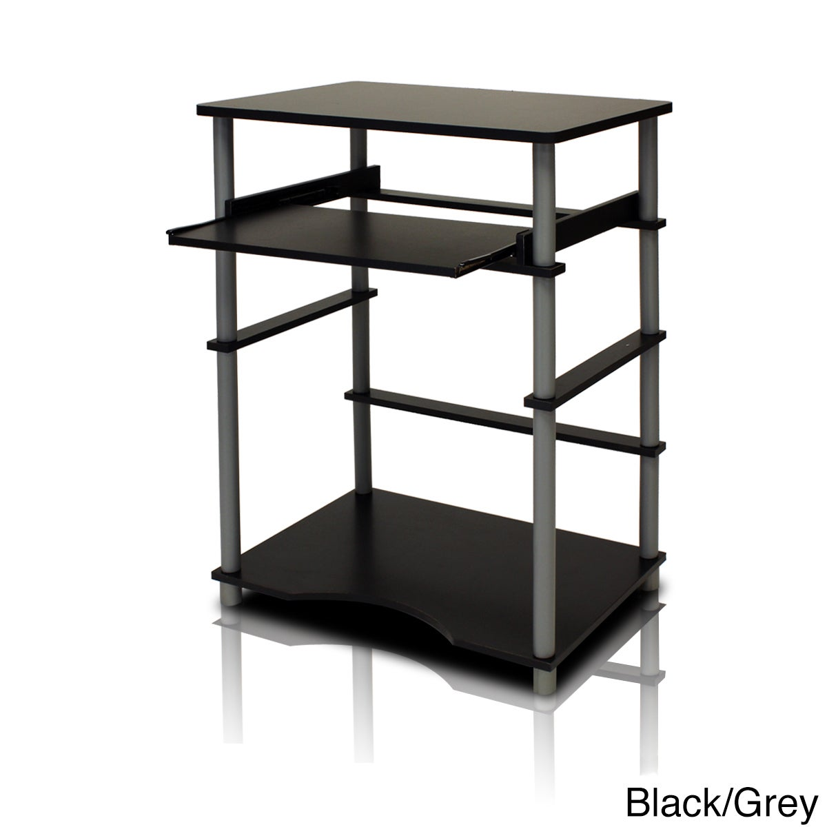 Shop Home Pipe Frame Laptop Notebook Computer Desk with Pull-Out ...