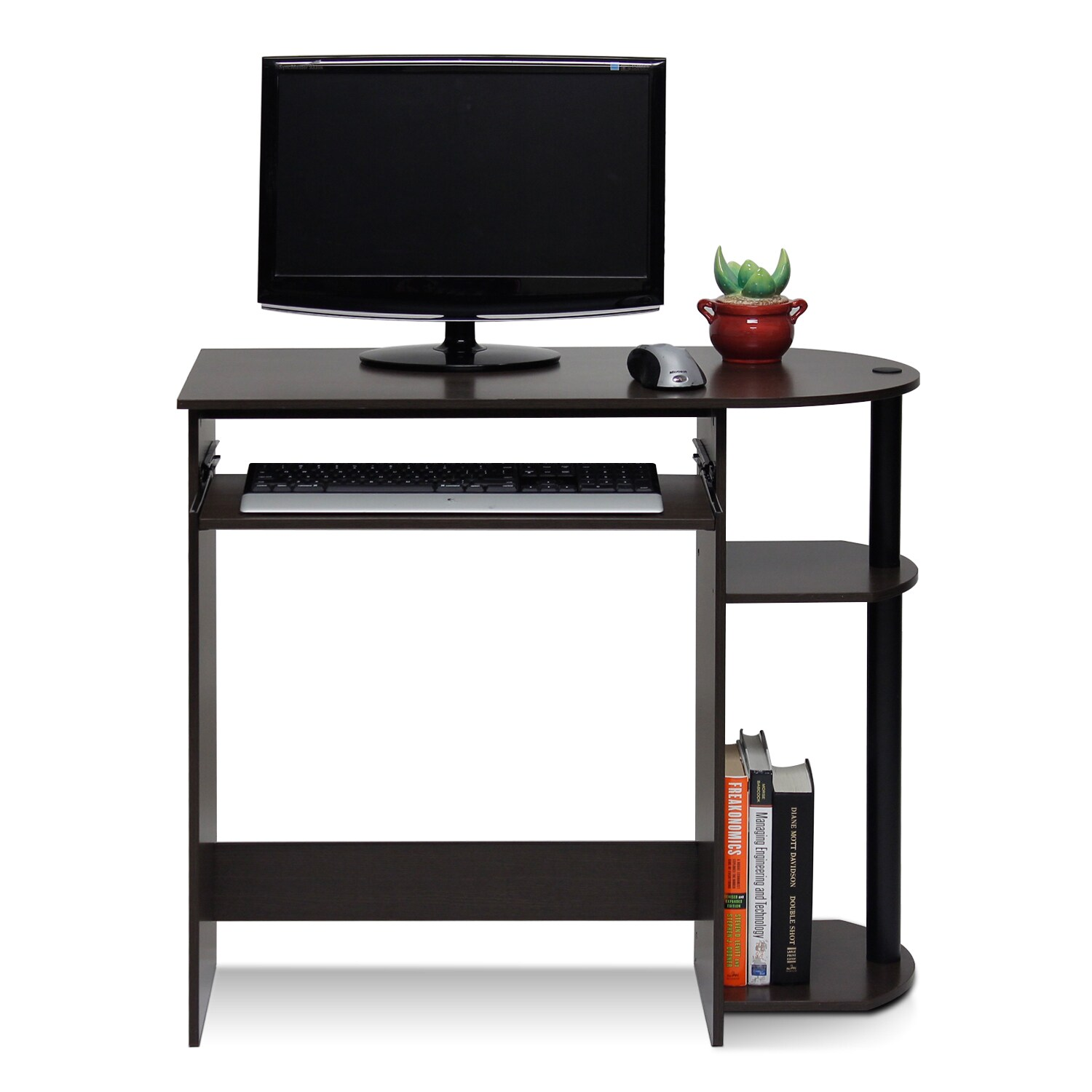 Furinno 14098r1 Simplistic Easy Embly Computer Desk Free Shipping Today 19143813