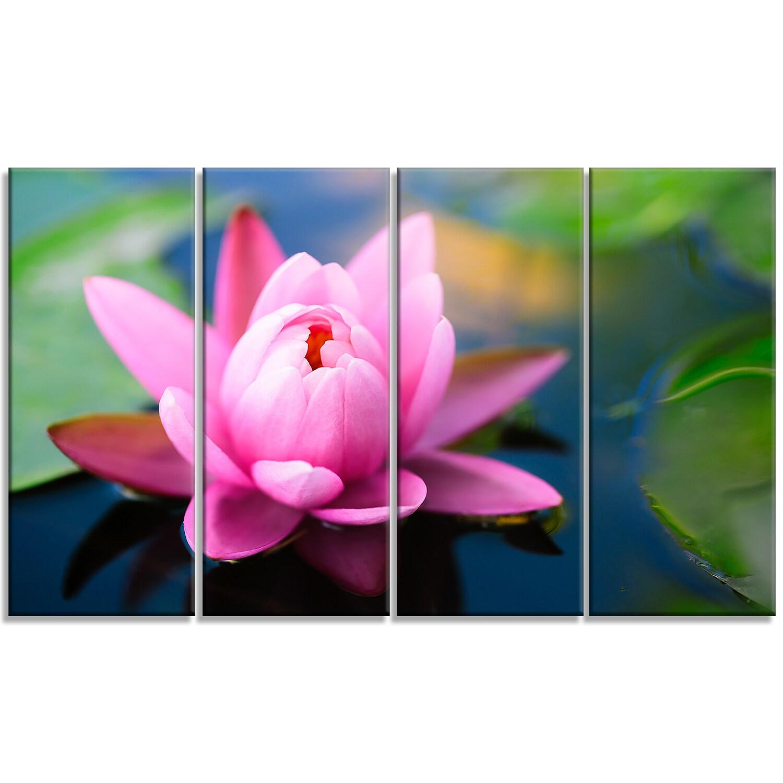 Shop Large Lotus Flower In The Pond Large Floral Canvas Art Print