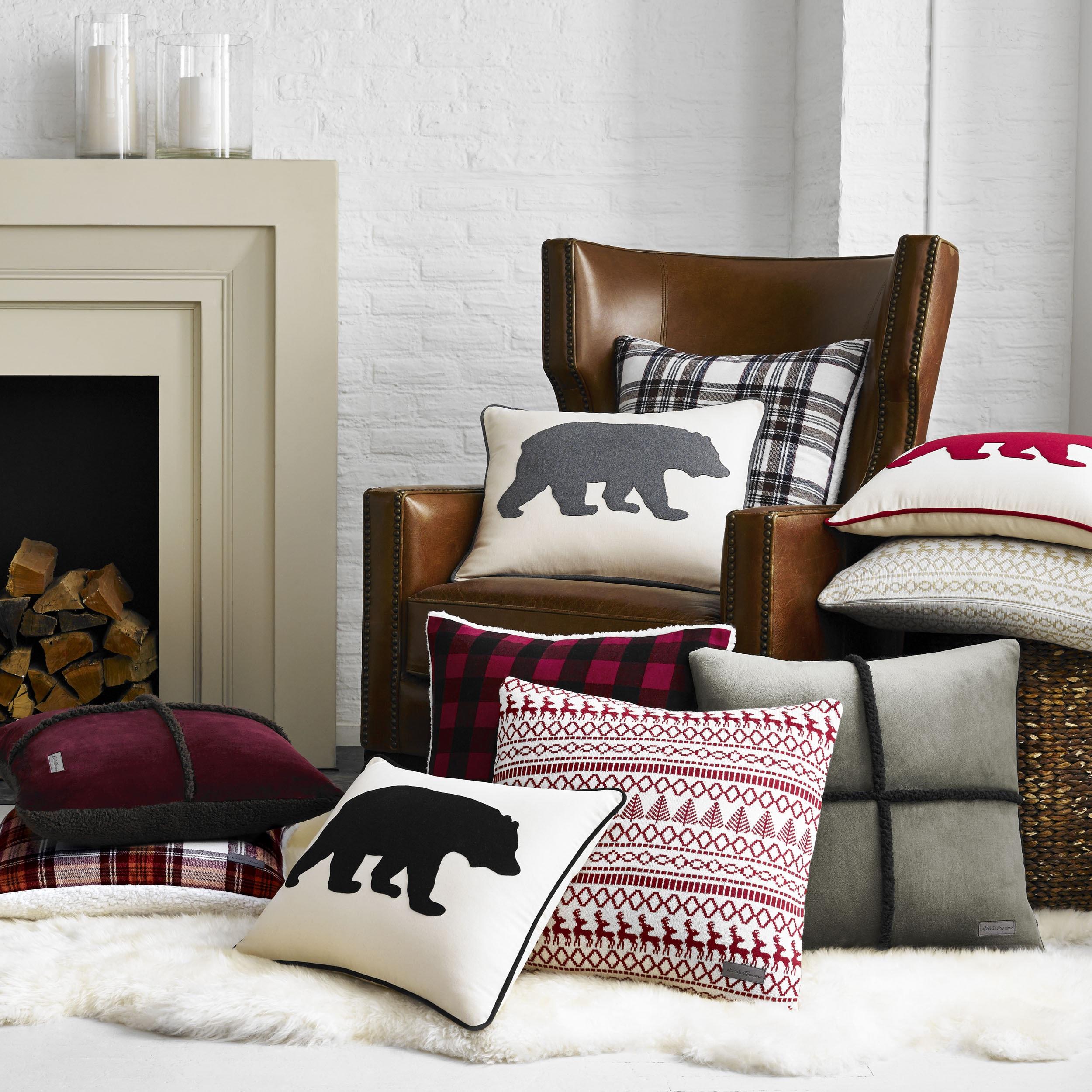 Eddie Bauer Bear Felt 3 Colors Decorative Pillows Free Shipping  ~ Throw Pillows For Sofa Cheap