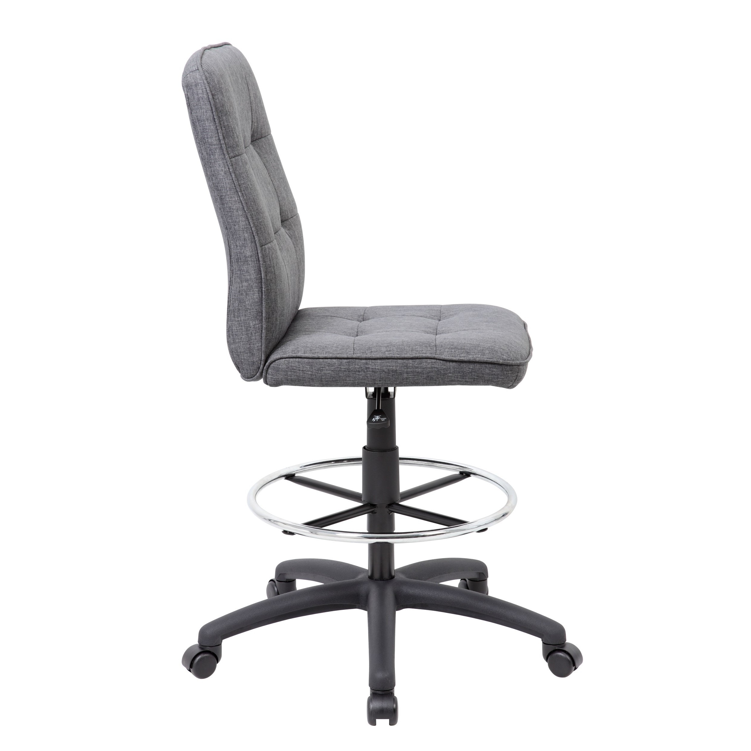 Wonderful Boss Fabric Modern Ergonomic Drafting Chair   Free Shipping Today    Overstock   19146744