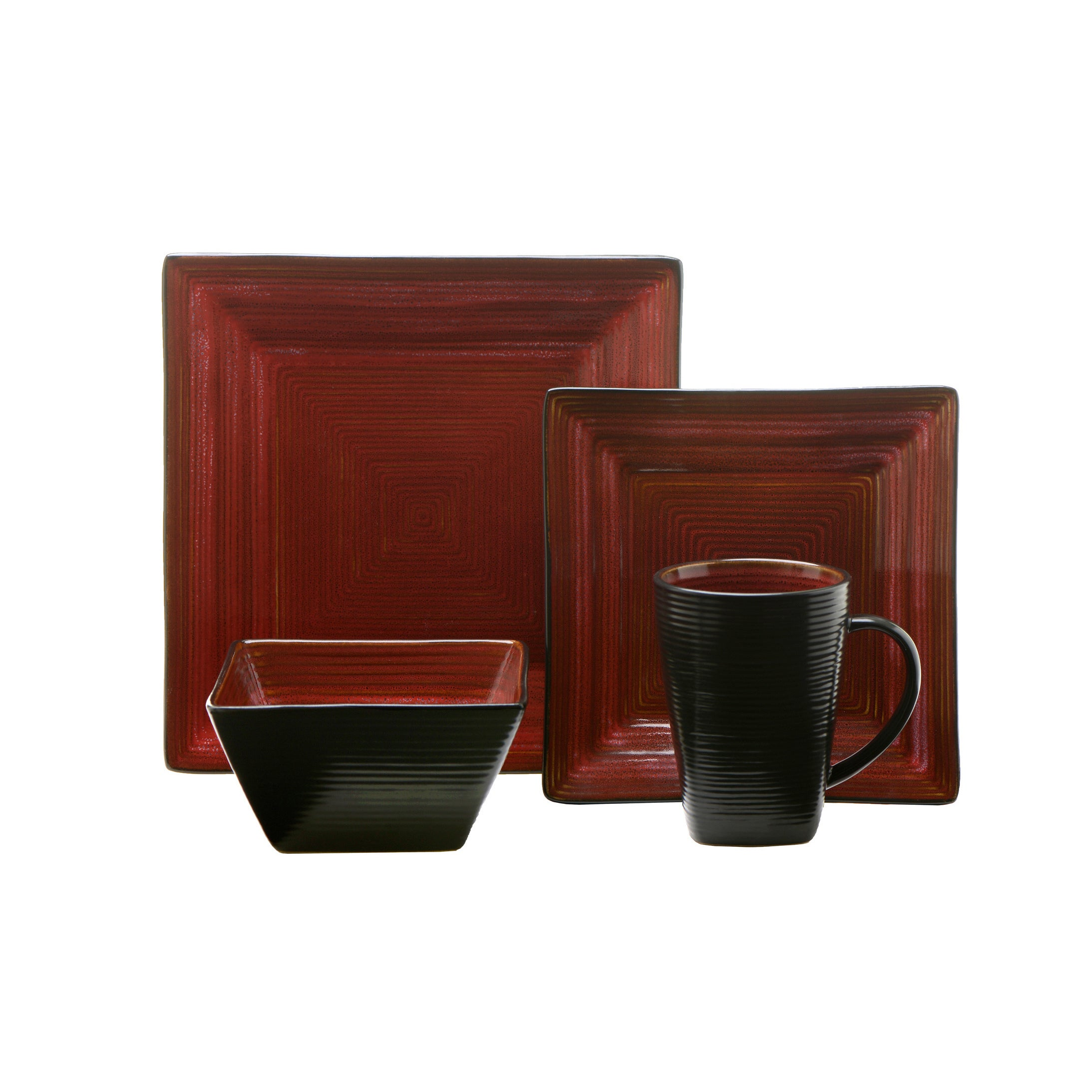 Oneida Adriatic Red 32-Piece Dinnerware Set Service for 8 - Free Shipping Today - Overstock - 19147093  sc 1 st  Overstock & Oneida Adriatic Red 32-Piece Dinnerware Set Service for 8 - Free ...