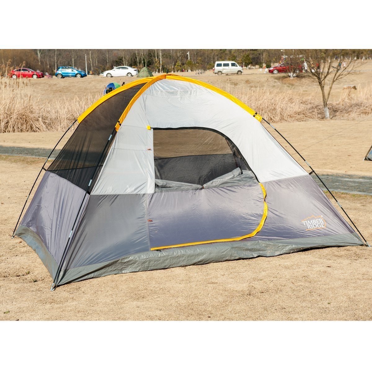 TimberRidge 3 Seasons D-Shape Door Family C&ing Dome Tent with Carry Bag. - Free Shipping Today - Overstock.com - 19147397  sc 1 st  Overstock.com & TimberRidge 3 Seasons D-Shape Door Family Camping Dome Tent with ...