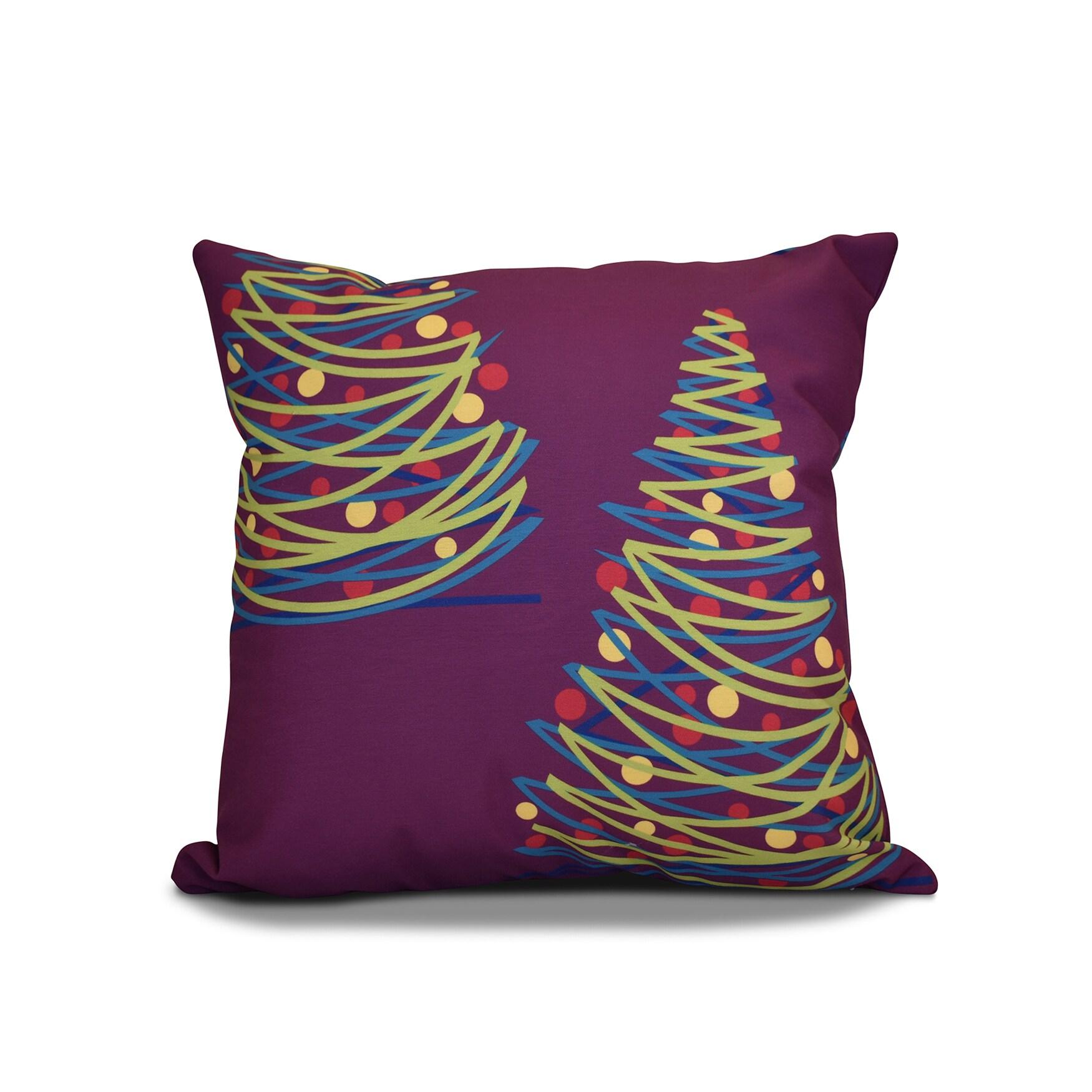 Tannenbaum Outdoor.16 X 16 Inch O Tannenbaum Geometric Holiday Print Outdoor Pillow