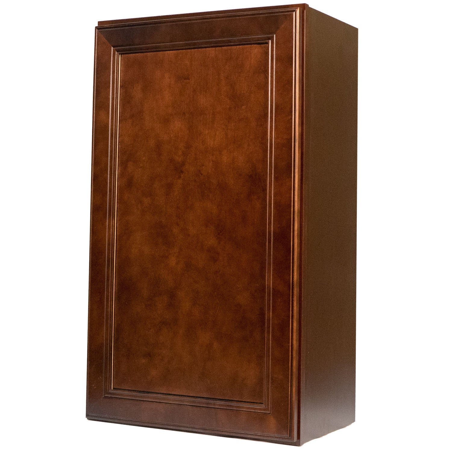 shop everyday cabinets 18-inch cherry mahogany brown leo saddle
