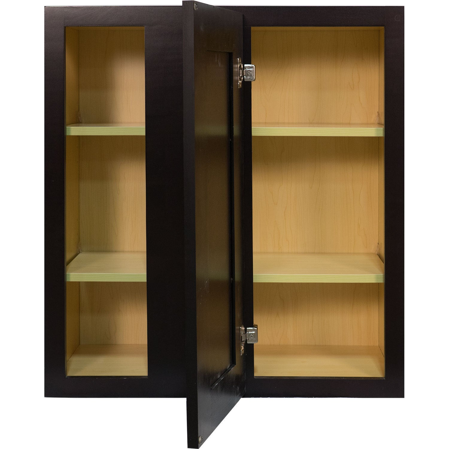 Everyday Cabinets 27 Inch Dark Espresso Shaker Blind Corner Wall Cabinet    Free Shipping Today   Overstock   19148582