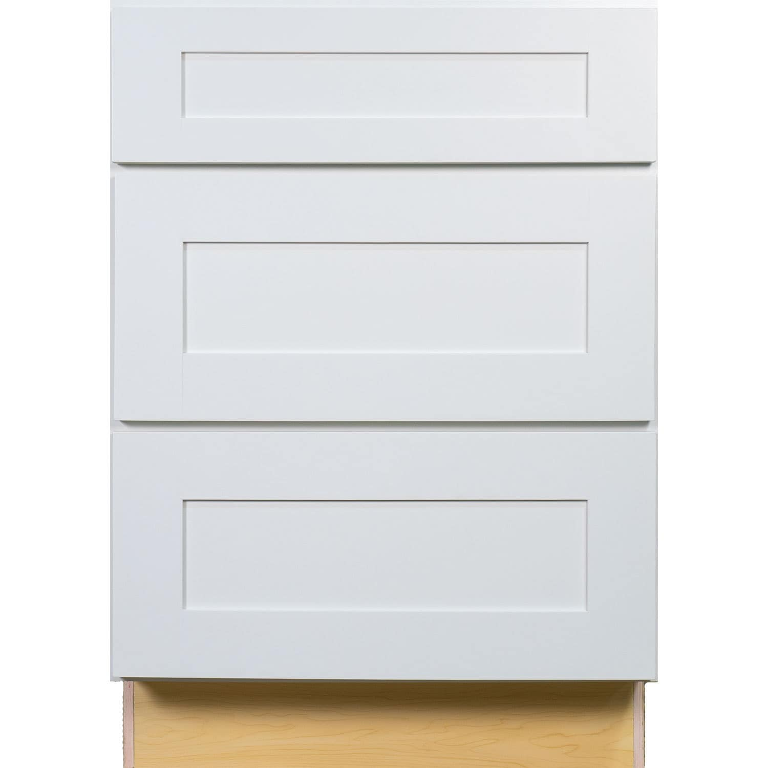 Everyday Cabinets 36 Inch White Shaker 3 Drawer Base Kitchen Cabinet Free Shipping Today 12315230