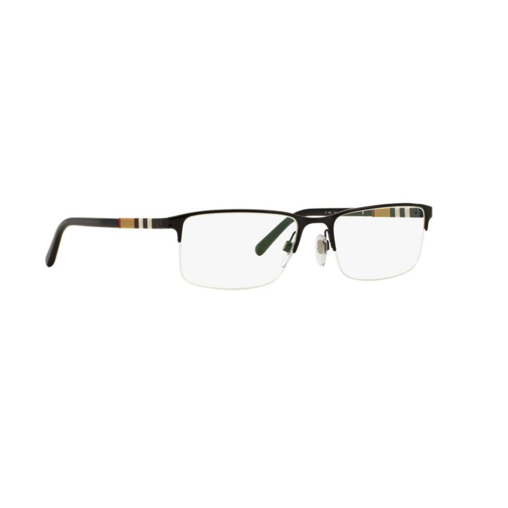 2c01377538 Shop Burberry Unisex BE1282 1001 Black Rectangle Semi Metal Rimless  Eyeglasses with 55mm Lens - Free Shipping Today - Overstock - 12315816