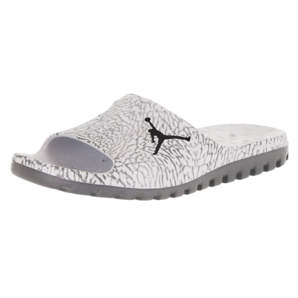 74be0fd52b0f5c Shop Nike Jordan Men s Jordan Super.Fly Team Slide Pure Platinum Black Cool  Grey Sandal - Free Shipping On Orders Over  45 - Overstock - 12318157