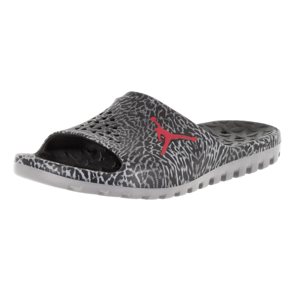 ef1268af8a305 Shop Nike Jordan Men s Jordan Super.Fly Team Slide Gr Black Gym Red Cool  Grey Sandal - Free Shipping Today - Overstock - 12318161