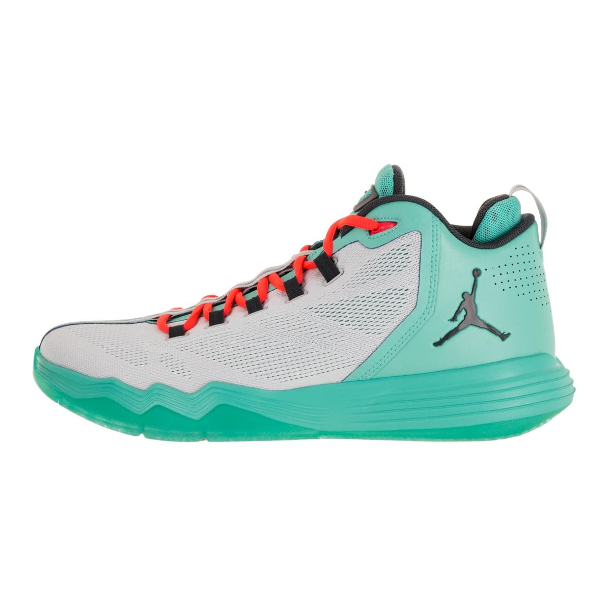 pretty nice 3328f 649a0 Shop Nike Jordan Men s Jordan Cp3.Ix Ae  Dark Grey  Trq Infr Basketball Shoe  - Free Shipping Today - Overstock - 12318178
