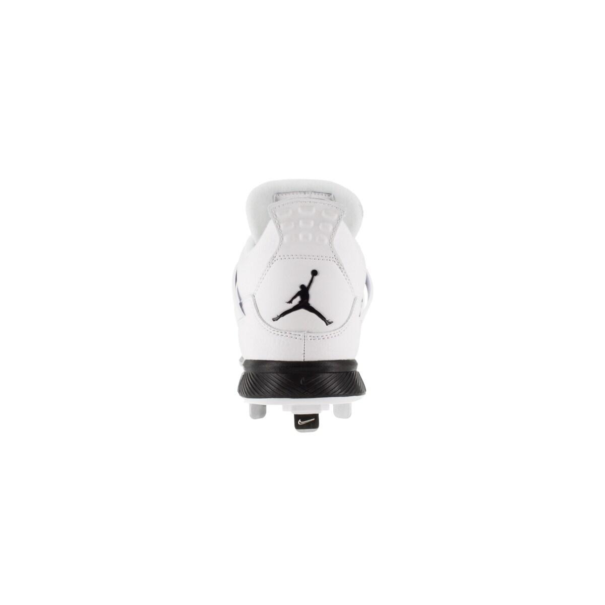big sale 36436 1a6d1 Shop Nike Jordan Men s Jordan Iv Retro Metal White Black Baseball Cleat 8  Men s Us - Free Shipping Today - Overstock - 12318276