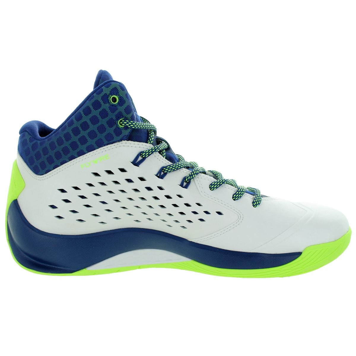 24bc85102df348 Shop Nike Jordan Men s Jordan Rising High White Green Insgn Bl Infrrd 2  Basketball Shoe - Free Shipping Today - Overstock - 12318365