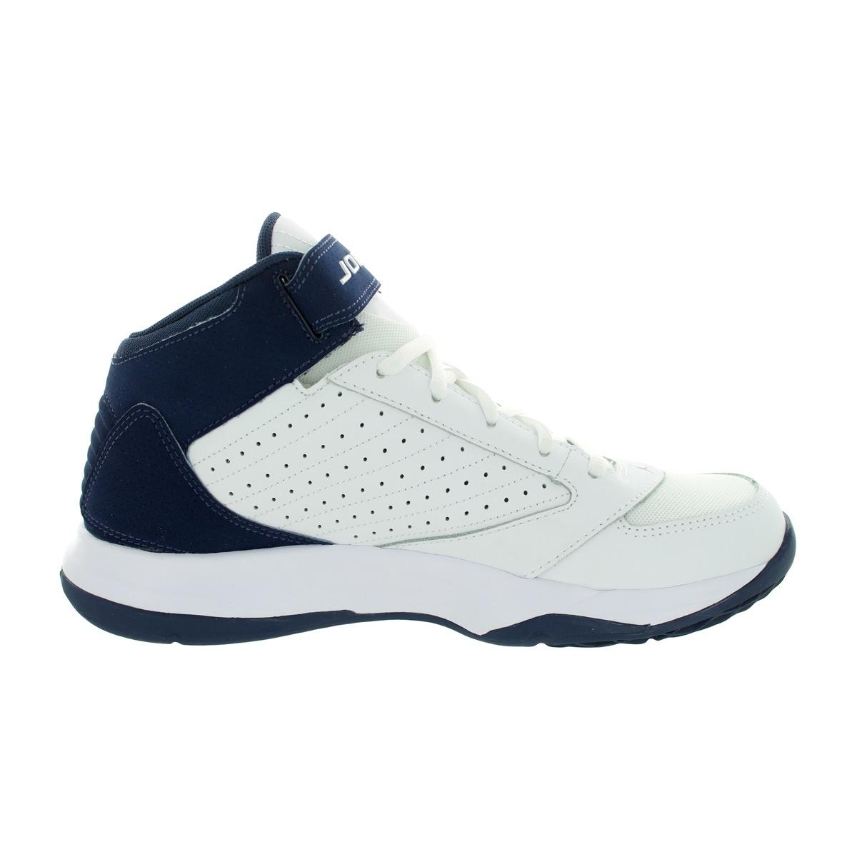 new arrival c11d5 acc42 Shop Nike Jordan Men s Jordan Bct Mid 3 White White Midnight Navy  Basketball Shoe - Free Shipping Today - Overstock - 12318584