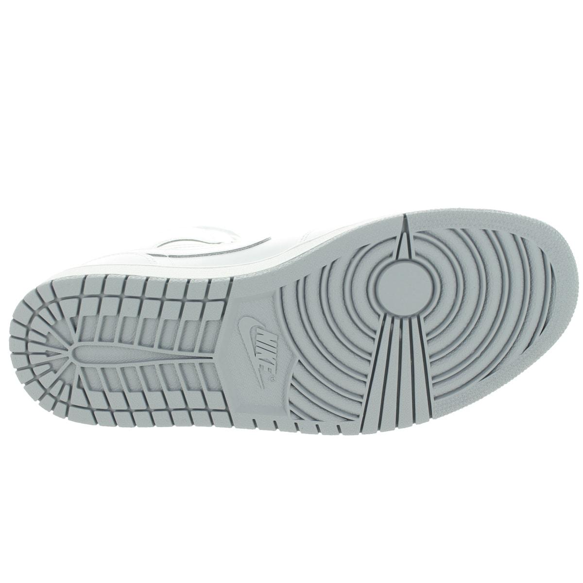 Shop Nike Jordan Men s Air Jordan 1 Mid White White Wolf Grey Basketball  Shoe - Free Shipping Today - Overstock - 12318717 7f14327d6