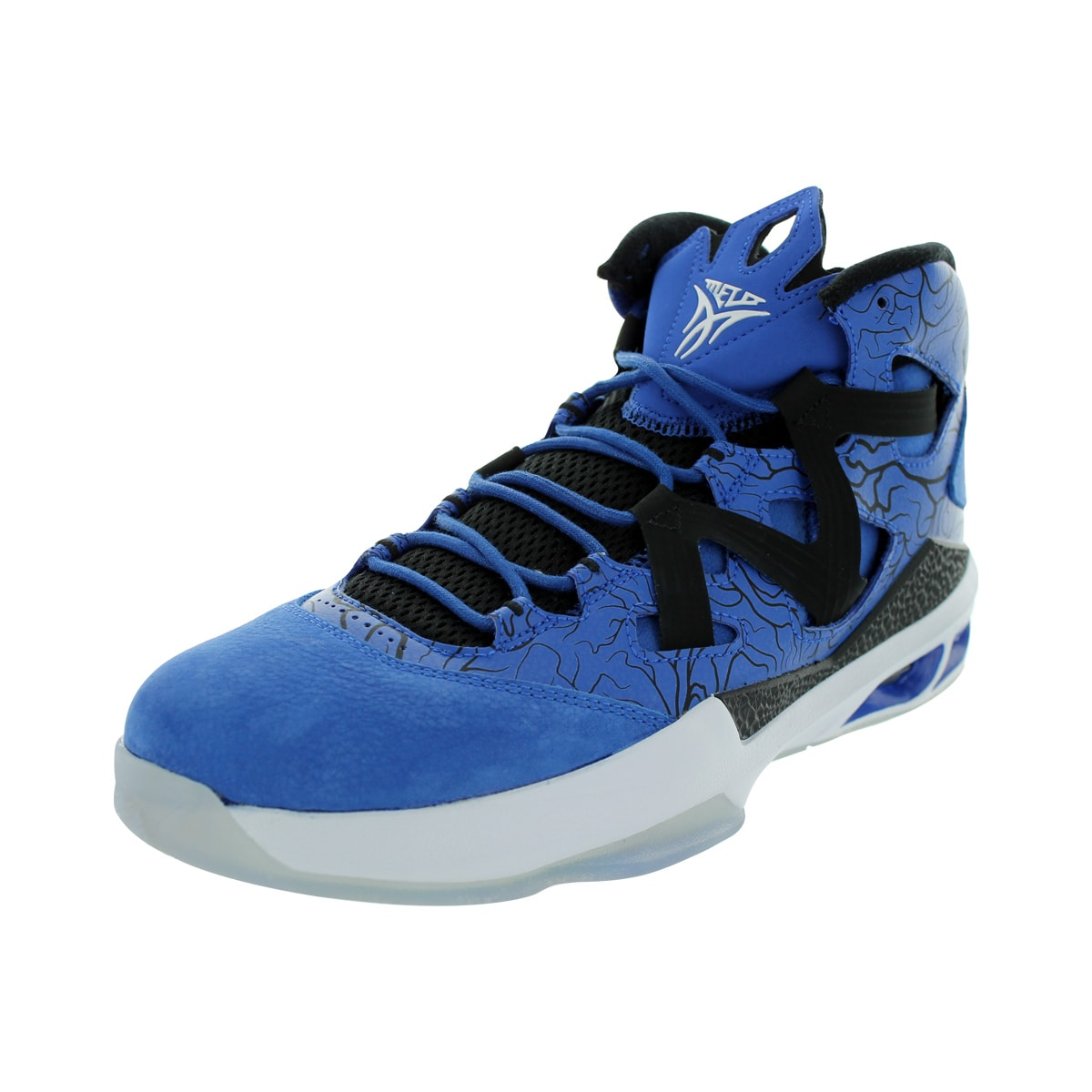 low priced e61f9 c3ef3 Shop Nike Men s Jordan Melo M9 Game Royal White Black Basketball Shoe -  Free Shipping Today - Overstock - 12318762