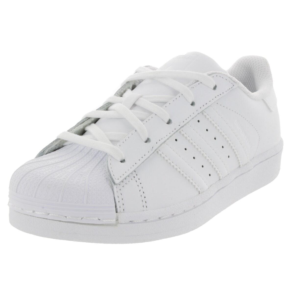 9801999c97bc Shop Adidas Kid s Superstar Foundation C Originals White White White  Basketball Shoe - Free Shipping Today - Overstock.com - 12319722