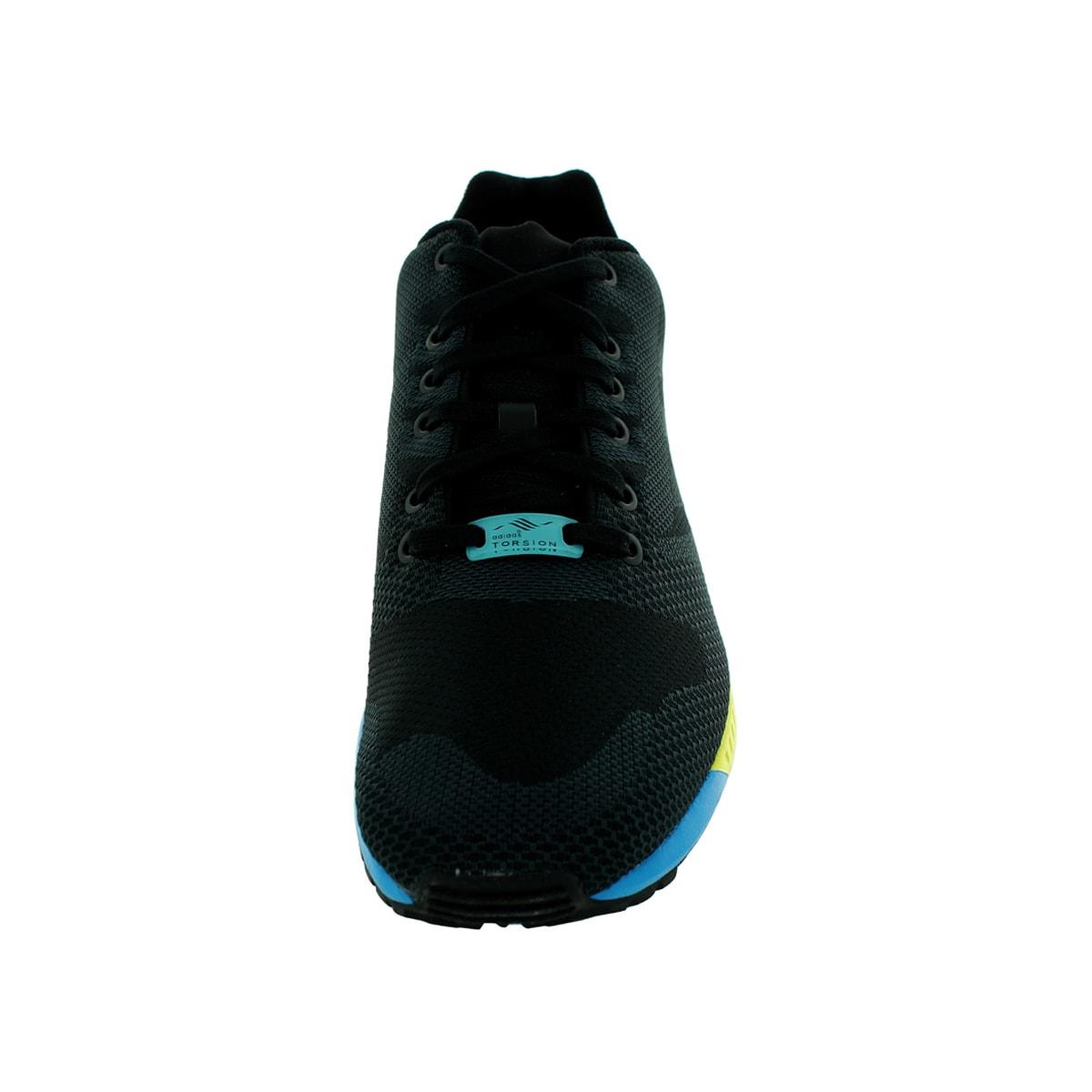 a0d61fd9074d6 Adidas Men's Zx Flux Weave Originals Black/Black/Aqua Running Shoe
