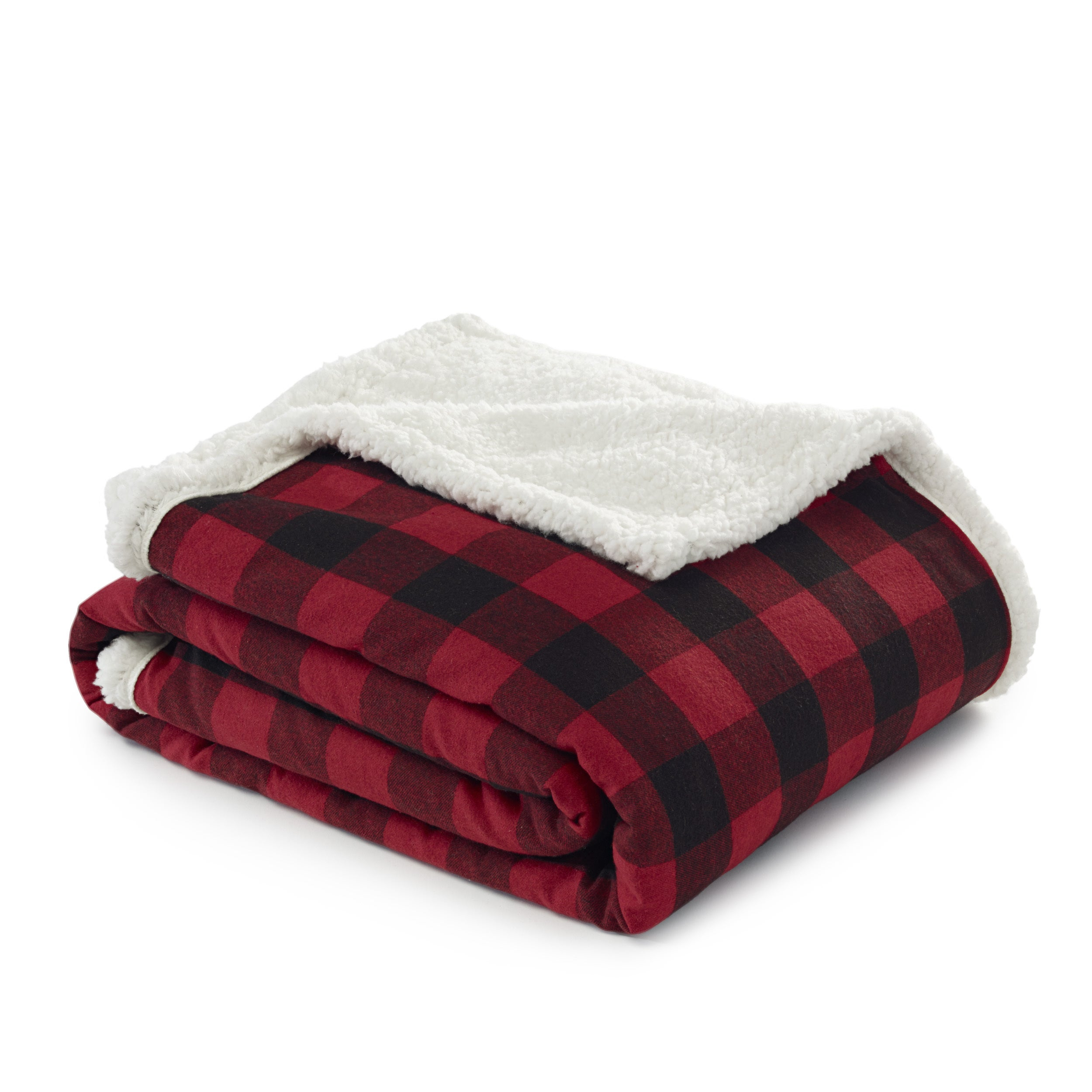 de3b6636 Shop Eddie Bauer Cabin Plaid Flannel Sherpa Throw - Free Shipping On Orders  Over $45 - Overstock - 12320525